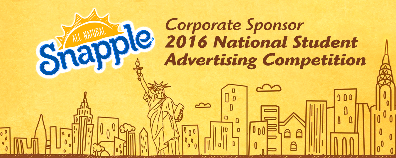 Snapple named Corporate Sponsor of the 2016 National Student Advertising Competition
